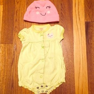 Carted onesie set with hat, size nb